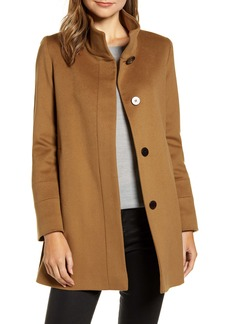 Fleurette Stand Collar Wool Car Coat (Nordstrom Exclusive)
