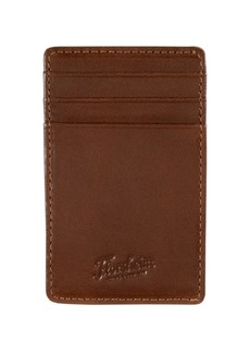 Florsheim Leather-Wrapped Magnetic Money Clip Card Case