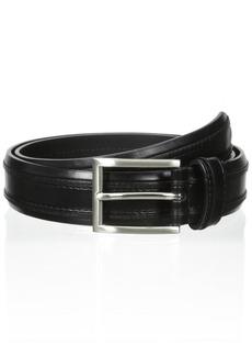 Florsheim Men's 32 mm Leather Double Ribbed Belt