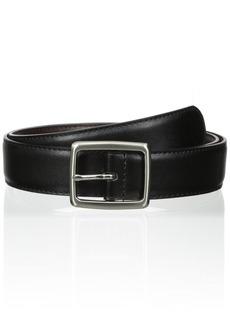 Florsheim Men's 32 mm Reversible Center Bar Buckle Belt Black/Brown