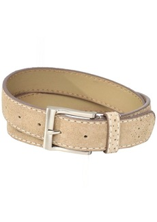 Florsheim Men's Casual Genuine Suede Leather Belt with with Contrast Stitched Edge