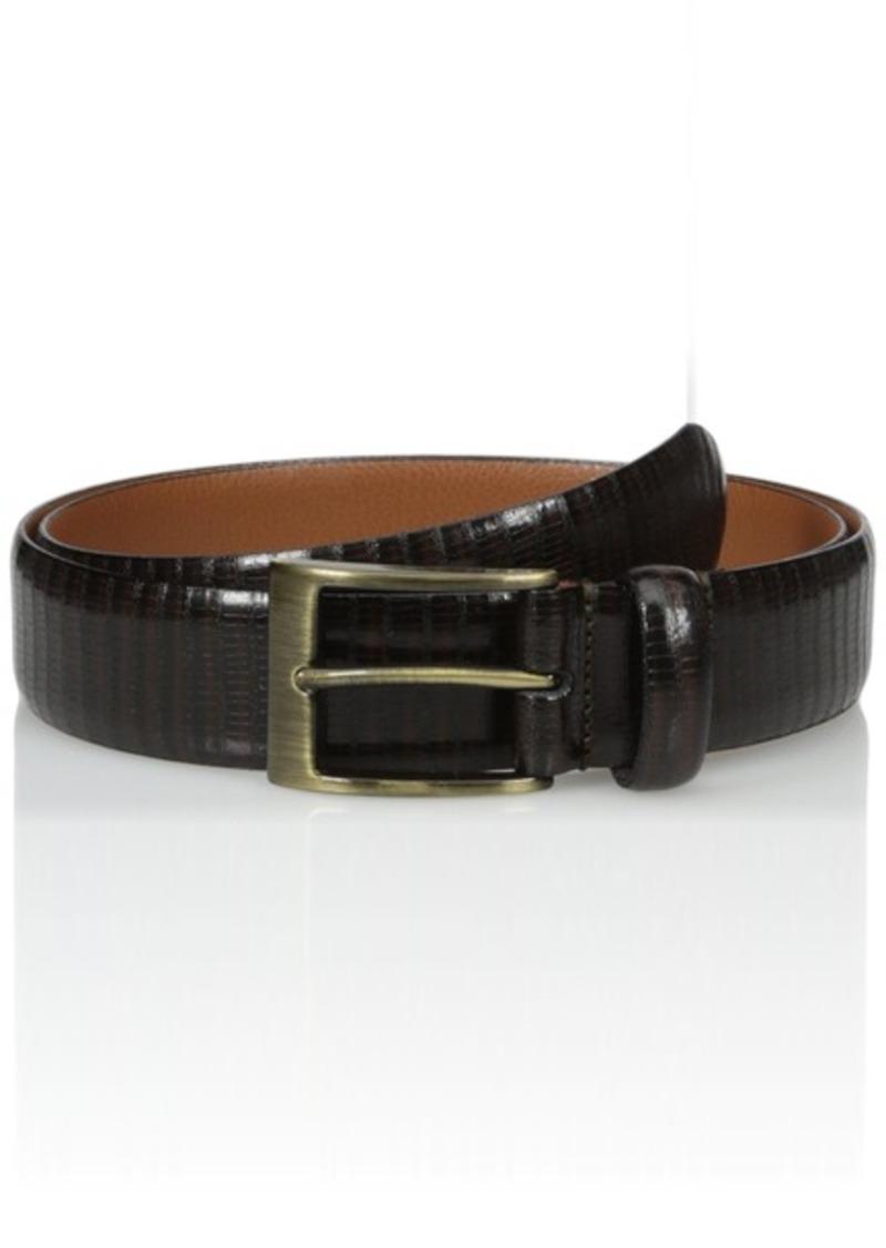 Florsheim Men's Embossed Italian Leather Eel Print Belt
