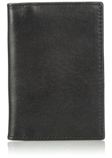 Florsheim Men's Folding Card Holder black M