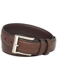 Florsheim Men's Full Grain Luxury Leather Dress Belt with Stitched Edge