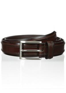 Florsheim Men's Leather Double Ribbed Belt