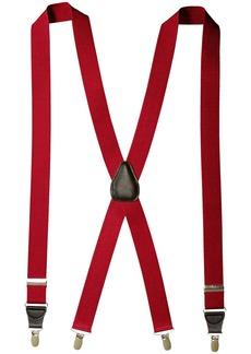 "Florsheim Men's Suspenders with Leather Drop Clip 46"""