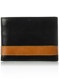 Florsheim Men's Two Tone BiFold Wallet black/tan M
