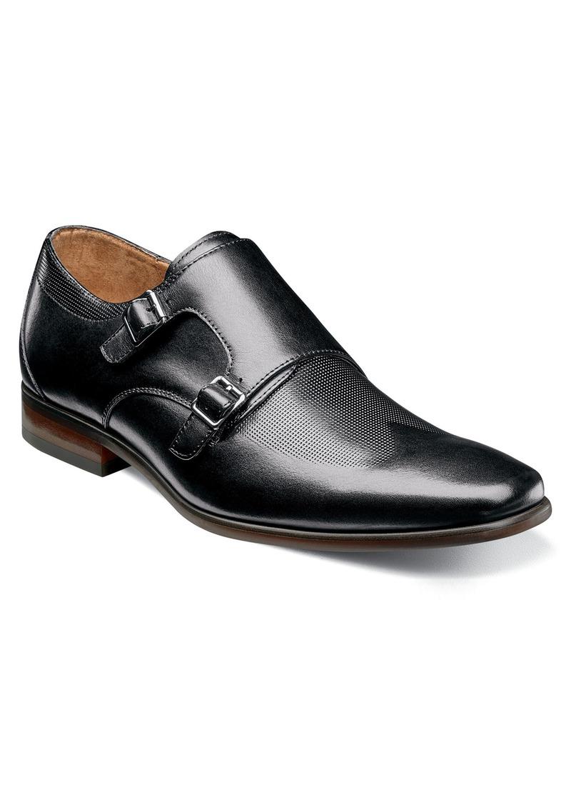 Florsheim Postino Textured Double Strap Monk Shoe (Men)