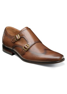 Florsheim Postino Textured Double Strap Monk Shoe (Men)