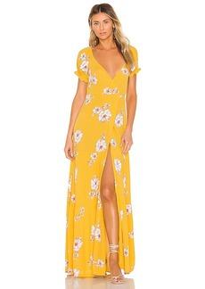 FLYNN SKYE Annabelle Wrap Maxi Dress