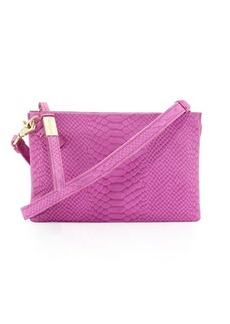 Foley + Corinna Cache Day Snake-Embossed Leather Crossbody Bag
