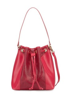 Foley + Corinna Clio Laser-Cut Leather Bucket Bag