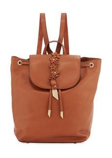Foley + Corinna Dahlia Flower Leather Backpack
