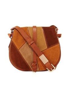 Foley + Corinna Daisey Patchwork Leather Saddle Bag