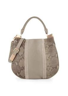 Foley + Corinna Dione Cerberus Snake-Embossed Leather Hobo Bag