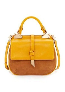 Foley + Corinna Dione Leather/Suede Combo Saddle Bag