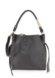 Foley + Corinna Faye Small Leather Drawstring Bag