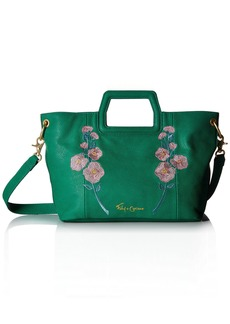 Foley + Corinna Flowerbed Creek Cut Out Handle Tote green