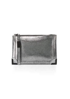 Foley + Corinna Frankie Leather Zip-Top Wristlet