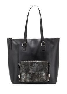 Foley + Corinna Gemini Snake-Embossed Leather Tote Bag