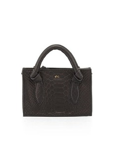 Foley + Corinna Gigi Snake-Embossed Leather Petite Crossbody Bag