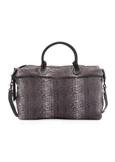 Foley + Corinna Snake-Print Expandable Weekender Bag