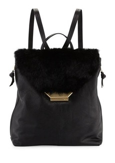 Foley + Corinna Stardust Rabbit-Fur/Leather Backpack