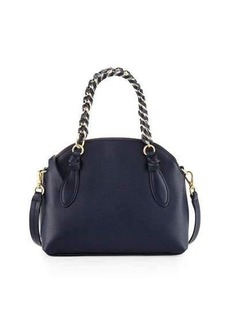 Foley + Corinna Tiggy Snake-Embossed Leather Crossbody Bag