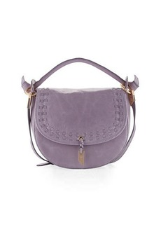 Foley + Corinna Violetta Woven Leather Saddle Bag