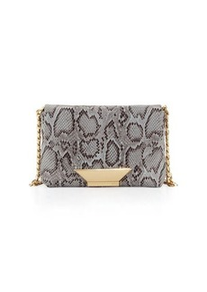 Foley + Corinna Ziggy Snake-Embossed Leather Crossbody Bag