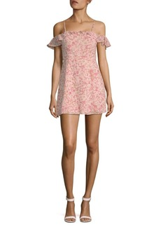 For Love & Lemons Aurora Ruffle Mini Dress