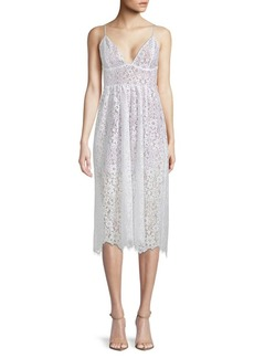 For Love & Lemons Botanic Lace Midi Dress