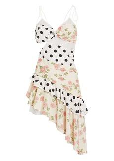 For Love & Lemons Butterscotch Assymetric Tank Midi Dress