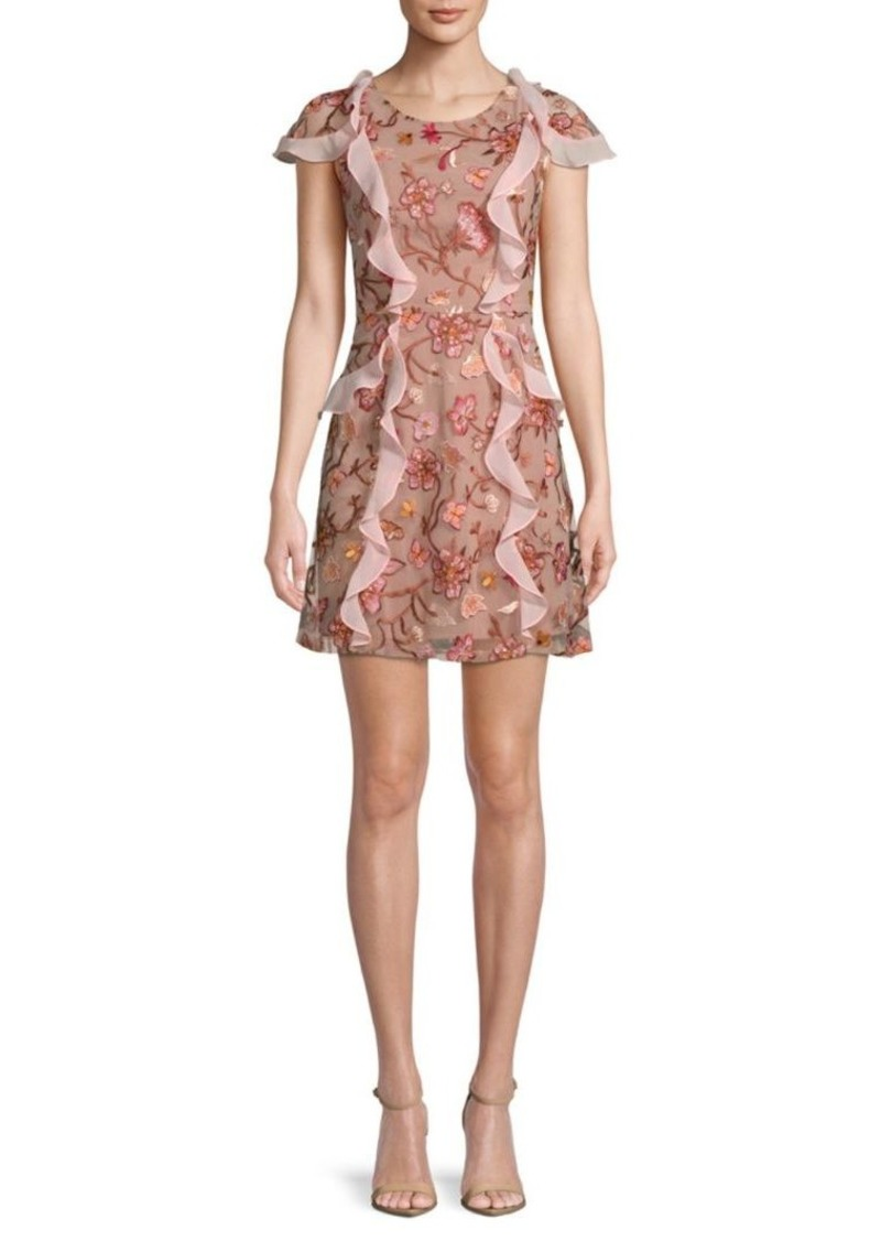 For Love & Lemons Embroidered Mini Dress