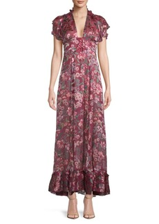 For Love & Lemons Floral Maxi Dress