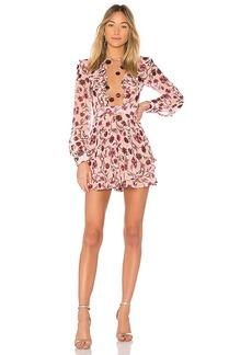 For Love & Lemons Agnes Mini Dress in Rose. - size M (also in S,XS)