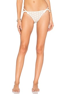 For Love & Lemons Alicante Lace Ruffle Bottom in White. - size L (also in M,S)