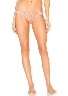 For Love & Lemons Alicante Ruffle Bottom in Coral. - size L (also in M,S,XS)