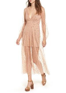 For Love & Lemons All That Glitters Midi Dress