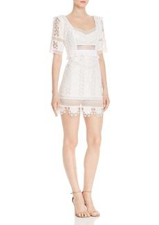 For Love & Lemons Amandine Lace Mini Dress