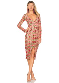 Amelia Textured Midi Dress