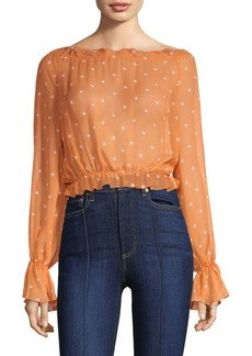 For Love & Lemons Analisa Polka Dot Top