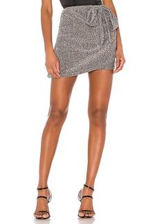 For Love & Lemons Auguste Sparkle Mini Skirt