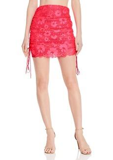 For Love & Lemons Avalon Ruched Mini Skirt