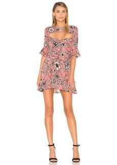 For Love & Lemons Ayla Laced Up Dress
