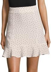 For Love & Lemons Bianca Polka Dot Mini Skirt