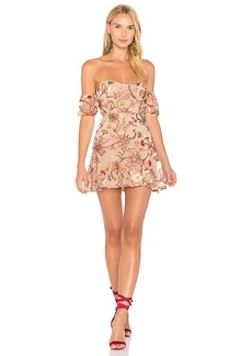 For Love & Lemons Botanic Strapless Dress in Brown. - size L (also in M,S,XS)
