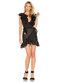 For Love & Lemons Bowie Star Organza Dress in Black. - size M (also in XS)