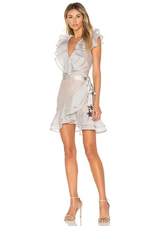 For Love & Lemons Bowie Star Organza Dress in Gray. - size S (also in XS)