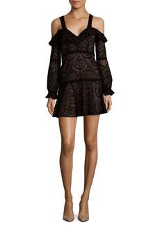For Love & Lemons Bridget Cold-Shoulder Mini Dress